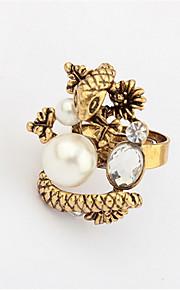 Alliances Femme / Homme / Amoureux / Unisexe Imitation de perle / Stras Alliage Alliage