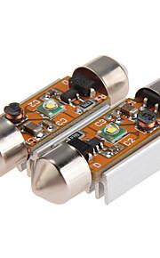 2 x cree-XPE Q5 LED slinger lichte lamp witte DC 12V auto-interieur 36mm