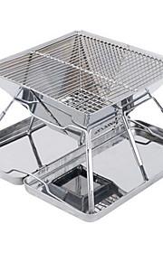 ruostumattomasta teräksestä taitto grilli teline kannettava grilli liesi