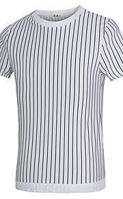 Katoen-Gestreept-Heren-T-shirt-Informeel / Werk / Formeel / Sport-Korte mouw