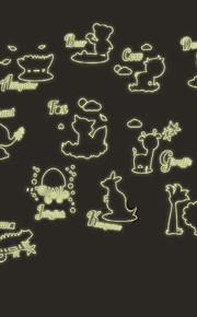 Животные / ботанический / Мультипликация / Слова и фразы / Натюрморт / Мода / Отдых Наклейки Светящиеся наклейки,PVC 90*60*0.1