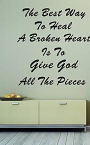 AYA™ DIY Wall Stickers Wall Decals, To Heal A Broken Heart Bible Verse PVC Wall Stickers