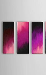 käsinmaalattu abstrakti violetti öljymaalaus ravintola 5 kpl / setti seinälle sisustus venytetty runko