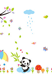 Wall Stickers Wall Decals Style Panda Bamboo PVC Wall Stickers