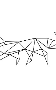 애니멀 / 카툰 / 모양 / 레져 벽 스티커 플레인 월스티커,PVC M:24*56cm/L:42*97cm