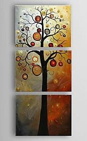Hånd-malede Abstrakt Europæisk Stil / Moderne / Klassisk / Parfumeret,Tre Paneler Hang-Painted Oliemaleri