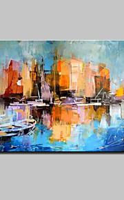 手描きの 抽象的な風景画 油彩画,Modern 1枚 キャンバス ハング塗装油絵 For ホームデコレーション