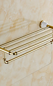 Badeværelseshylde / Grøn / Vægmonteret /24.4*8.6*5.9 inch /Messing /Moderne /62CM 22CM 1.9KG