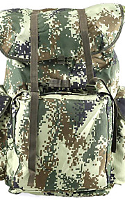 71 L Paquetes de Mochilas de Camping / mochila Acampada y Senderismo Al Aire Libre Multifuncional Verde Lienzo Other