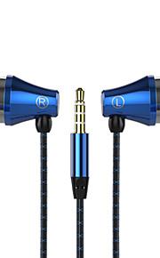 telefon headset øre øresneglen headset sport jogging bas ledning med hvede dt-201a