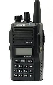 Fabriek-OEM PX-888 VHF Walkie-talkie 1W/5W 128 136-174MHz 1200mAh 3km-5kmNoodgevallen Alarm / Programmeerbaar via pc-software /