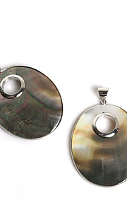 Pendentifs Coquillage Oval Shape comme image / Nactural 1Pc