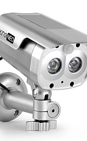 305s kingneo fotocamera simulato telecamera esterna / interna alimentato a energia solare sicurezza fittizia di sorveglianza con flash LED
