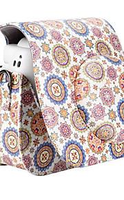 blomst pu læderetui taske til Fujifilm instax mini 8 øjeblikkelig filmkamera, hvid