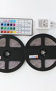 2 × 5m 300x3528 ledet smd RGB LED stripe lys og 44key fjernkontroll and1bin2 forbindelseslinje (DC12V)
