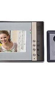 7 tommer LCD-farve nattesyn hd video intercom dørklokken elektrisk styring låse uden stråling