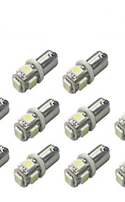 10stk Ba9s 5050 5smd hvid farve bil LED lys auto pære indikator nummerplade map dome pakning bil styling 12v