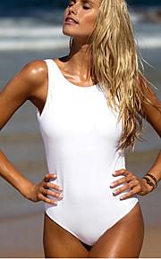 Women's Halter Bikini,Solid Cotton White