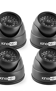 kingneo kd102-41 ir dummy camera dome security gesimuleerd bewakingscamera 4 stuks zwart