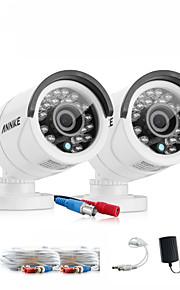 sannce® nuovo bianco 720p AHD ir cctv taglio kit per macchine fotografiche interne ed esterne kit del sistema resistente alle intemperie