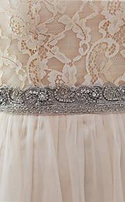 Satin Elastique Mariage Ceinture-Billes Femme 250cm Billes