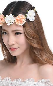 Women's Resin / Plastic Headpiece-Wedding / Outdoor Flowers Wreaths 1 Piece 52-56cm