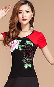 Latin Dance Tops 1 Piece No Skirts Women's Performance Modal Pattern/Print Fuchsia / Green / Purple / Red 7Sizes
