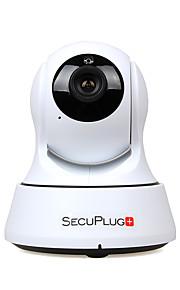 secuplug + indendørs 1.0mp hd wi-fi ip kamera til babyalarm med tovejs audio / tf card slot / nattesyn
