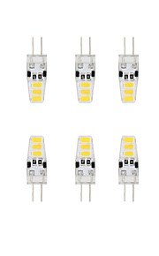 1.5W G4 LED à Double Broches T 6 SMD 5730 120 lm Blanc Chaud / Blanc Froid Etanches DC 12 V 10 pièces
