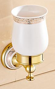 Zahnbürstenhalter / Badezimmer Gadget / Gold / Wandmontage /3.9*3.7*1.1 inch /Messing /Modern /12CM 9.5CM 0.5KG
