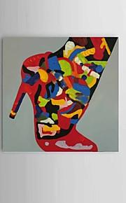 מצויר ביד מופשט / טבע דומם ציורי שמן,סגנון ארופאי / מודרני / קלאסי פנל אחד בד ציור שמן צבוע-Hang For קישוט הבית