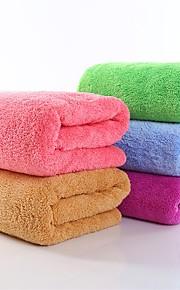 """1 Piece Coral Fleece Bath Towel Thickening 55"""" by 27"""" Solid Multicolor Super Soft"""