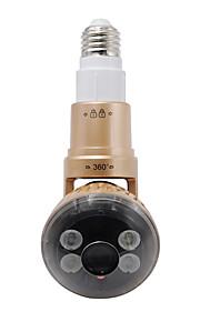 trådløs pære ip kamera med drejeligt krop med fjernbetjening hvid LED lys (Gloden farve)