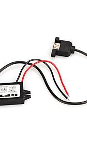 Waterproof DC/DC Step-Down Converter 12V//24V to 5V/3A USB Power Regulator Car