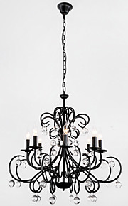 MAX:60W Chandelier ,  Country Painting Feature for Crystal Metal Dining Room / Entry / Hallway