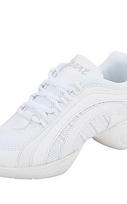 Sapatos de Dança(Vermelho / Branco / Dourado) -Feminino-Não Personalizável-Tênis de Dança