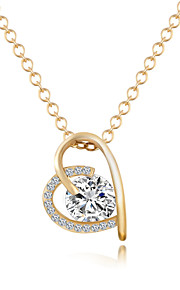Modische Halsketten Anhängerketten Schmuck Krystall / Aleación / vergoldet Party / Alltag / Normal Goldfarben / Silber 1 Stück Geschenk
