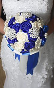 Bouquet sposa Tondo Rose Bouquet Matrimonio Raso 17 cm ca.