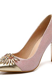Women's Heels Summer /Pointed Toe Synthetic Office & Career / Casual Stiletto Heel Split Joint Pink / Silver / Gold