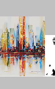 Dipinta a mano Astratto / Paesaggi Dipinti ad olio,Modern Un Pannello Tela Hang-Dipinto ad olio For Decorazioni per la casa