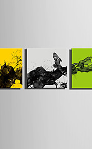 E-HOME® Stretched Canvas Art Ink Decoration Painting  Set of 3