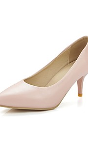 Women's Heels Summer/ Pointed Toe PU Office & Career / Casual Cone Heel Others Pink / Silver / Gray / Beige Others