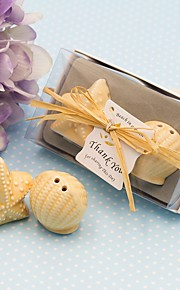 1box Ocean Breeze Seashell and Starfish Pepper Shakers Set 10.2 x 6 x 3.5cm/box Beter Gifts® Wedding Favor