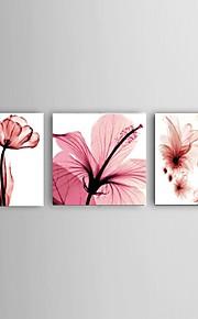 Hånd-malede Abstrakt / Landskab / Still Life / Blomstret/Botanisk Oliemalerier,Moderne / Parfumeret / Europæisk Stil Tre Paneler Canvas