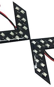 2 stuks 12v 7w amber ar-rij LED-verlichting Oranje LED achterlichten, amber led knipperlicht