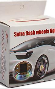 ha condotto la lampada solare lampada della decorazione auto mozzi ruota luci colorate con manuale 56-1d \ 1149