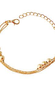 Bracelet Chain Bracelet Alloy Circle Fashion Jewelry Gift Gold,1pc