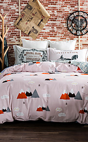 Clouds 800TC bedding sets Queen King size Bedlinen printing sheets pillowcases Duvet cover sanding Cotton Fabric
