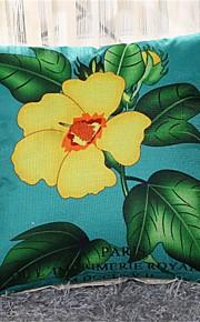 Lin Taie d'oreiller,Fleur Rustique / Décontracté