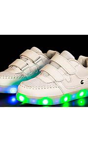 Черный / Белый-Для мальчиков-Для занятий спортом-Тюль / Ткань-На плоской подошве-Удобная обувь-Кеды